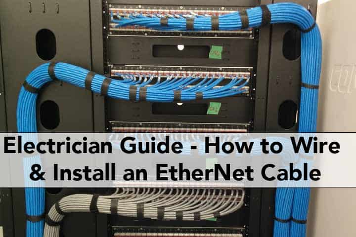 Ethernet cable wiring electrician